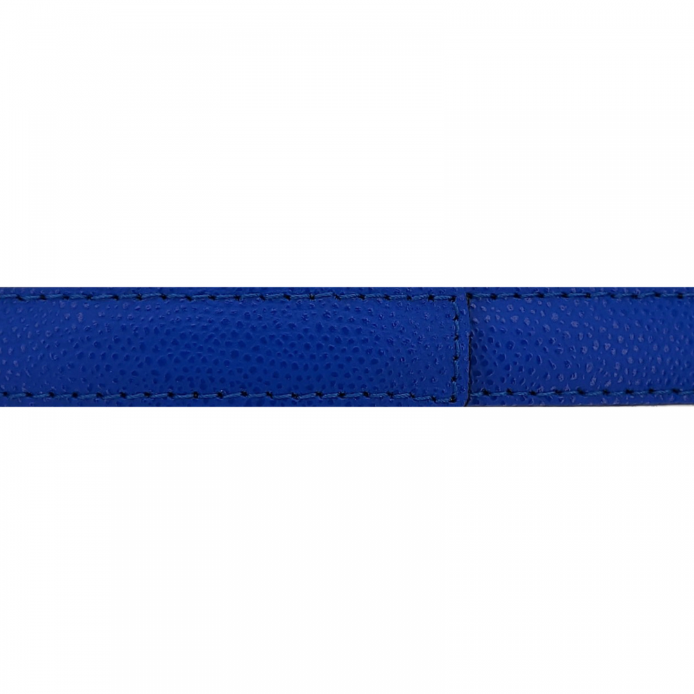 Cuir 20 mm grainé bleu roi
