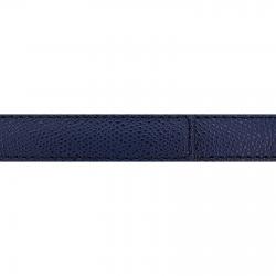 Cuir 20 mm grainé bleu marine