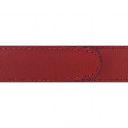 Cuir 30 mm grainé rouge