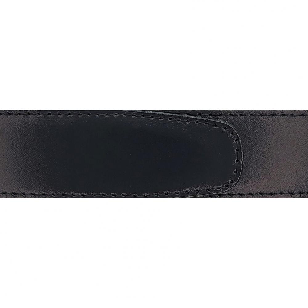 Cuir 30 mm lisse noir