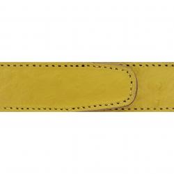 Cuir 30 mm façon autruche jaune moutarde