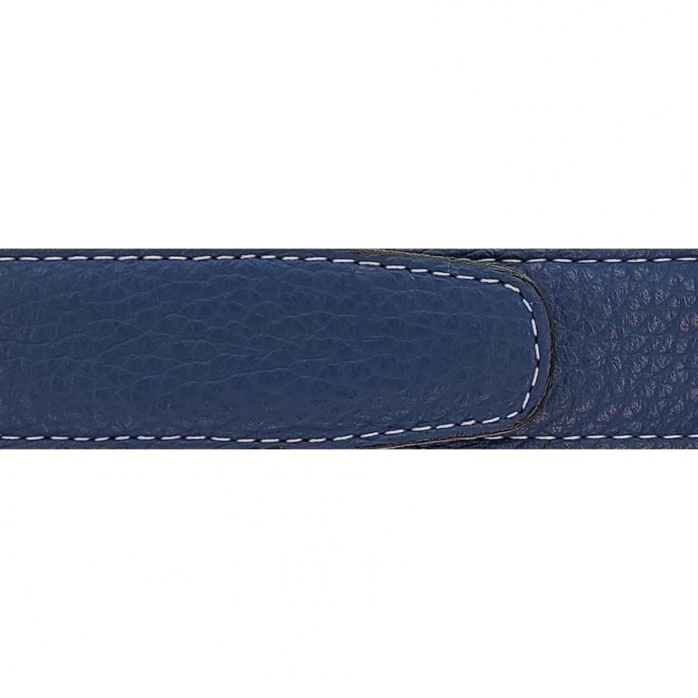 Cuir 30 mm souple bleu marine
