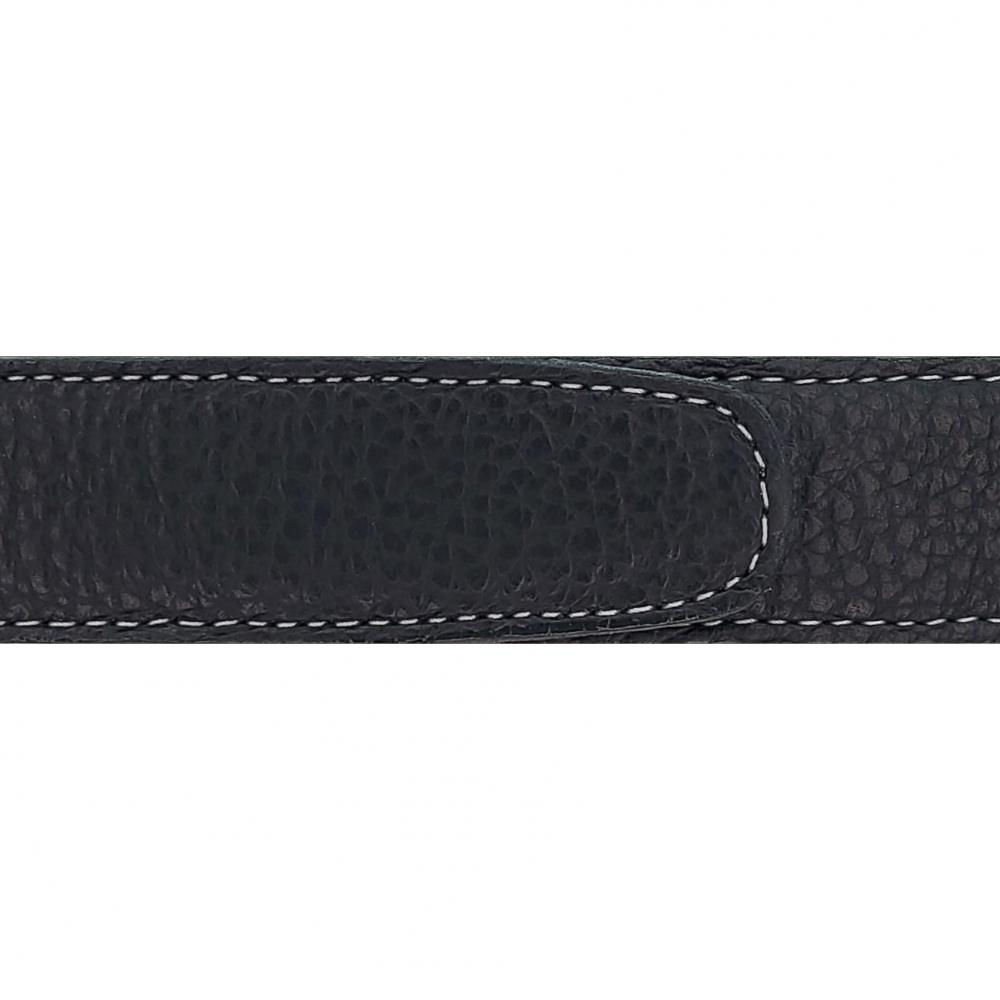 Cuir 30 mm souple noir