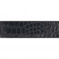Cuir 30 mm façon croco noir