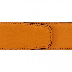 Cuir 40 mm grainé orange
