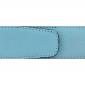 Cuir 40 mm grainé bleu ciel