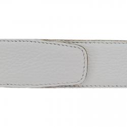 Cuir 40 mm souple blanc