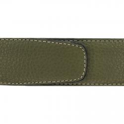 Cuir 40 mm souple vert kaki