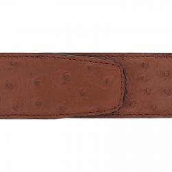 Cuir 40 mm autruche marron clair