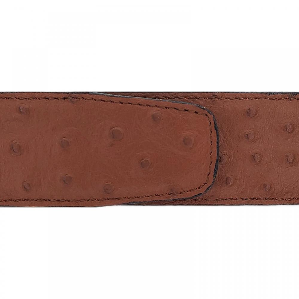 Cuir 40 mm souple façon autruche marron clair