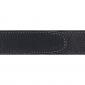 Ceinture cuir souple noir 30 mm - Porto-fino argent