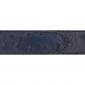 Ceinture cuir façon autruche bleu marine 30 mm - Roma argent