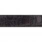 Ceinture cuir façon croco marron 30 mm - Porto-fino or