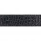 Ceinture cuir façon croco noir 30 mm - Côme argent