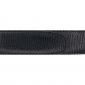 Ceinture cuir façon lézard noir 30 mm - Côme argent