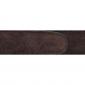 Ceinture cuir retourné marron 30 mm - Côme argent