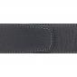 Ceinture cuir souple noir 40 mm - Milano or