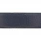 Ceinture cuir grainé bleu marine 40 mm - Roma argent