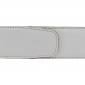Ceinture cuir souple blanc 40 mm - Milano or