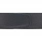 Ceinture cuir grainé noir 40 mm - Roma or