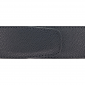 Ceinture cuir grainé noir 40 mm - Roma mate