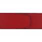 Ceinture cuir grainé rouge 40 mm - Milano argent