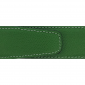 Ceinture cuir grainé vert 40 mm - Porto-fino or