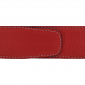 Ceinture cuir souple rouge 40 mm - Milano or
