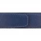 Ceinture cuir souple bleu marine 40 mm - Milano argent