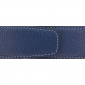 Ceinture cuir souple bleu marine 40 mm - Roma argent