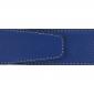 Ceinture cuir souple bleu roi 40 mm - Roma or