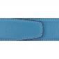 Ceinture cuir souple bleu ciel 40 mm - Milano mate